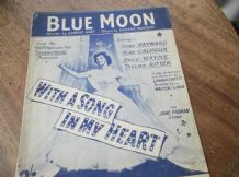 VINTAGE ORIGINAL SHEET MUSIC 1934 BLUE MOON RITA HAYWARD SONG IN MY HEART